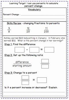 Percent Error Worksheet Answer Key New Percent Change and Percent Error Notes and Worksheet by