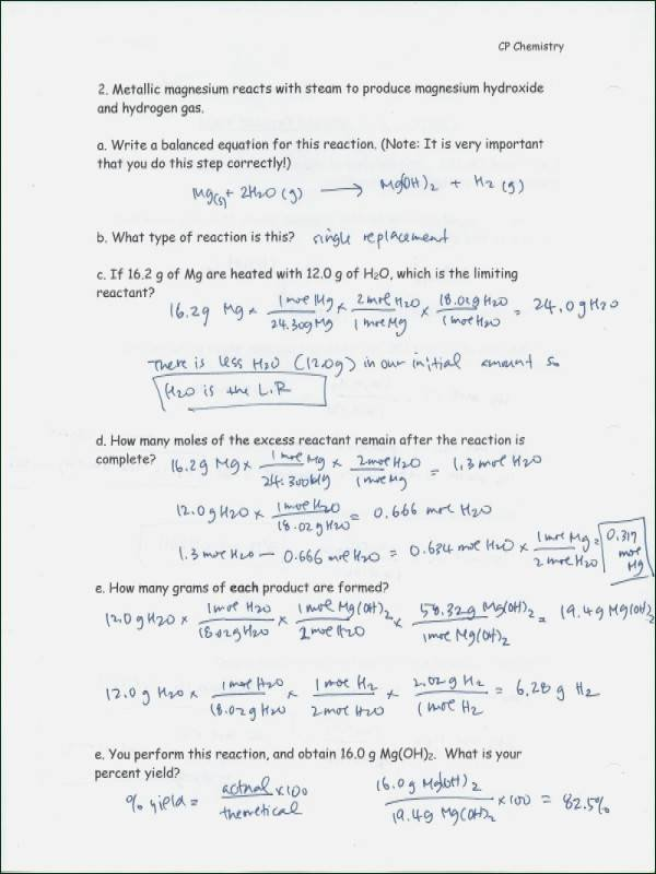 Percent Error Worksheet Answer Key New Percent Yield Worksheet
