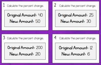 Percent Error Worksheet Answers Inspirational Percent Change and Error Notes Task Cards and A