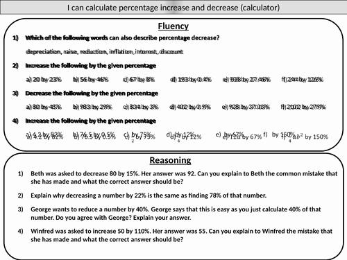 Percentage Increase and Decrease Worksheet Fresh Percentage Increase and Decrease Calculator Mastery