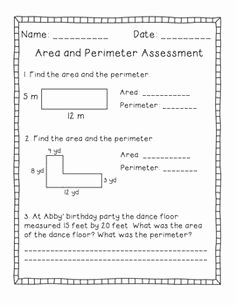 Perimeter Word Problems Worksheet Awesome 1000 Images About School Math Perimeter area On Pinterest