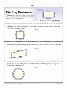 Perimeter Word Problems Worksheet Elegant 3rd Grade Math Worksheets