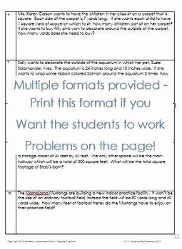 Perimeter Word Problems Worksheet Luxury area and Perimeter Of Rectangle Word Problems Worksheet