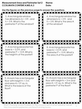 Perimeter Word Problems Worksheet New area and Perimeter Word Problems 4th Grade Worksheets 4