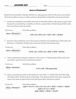 Perimeter Word Problems Worksheet New area and Perimeter Word Problems by the Buzzy Teacher