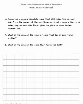 Perimeter Word Problems Worksheet New Differentiating Between area and Perimeter Word Problems