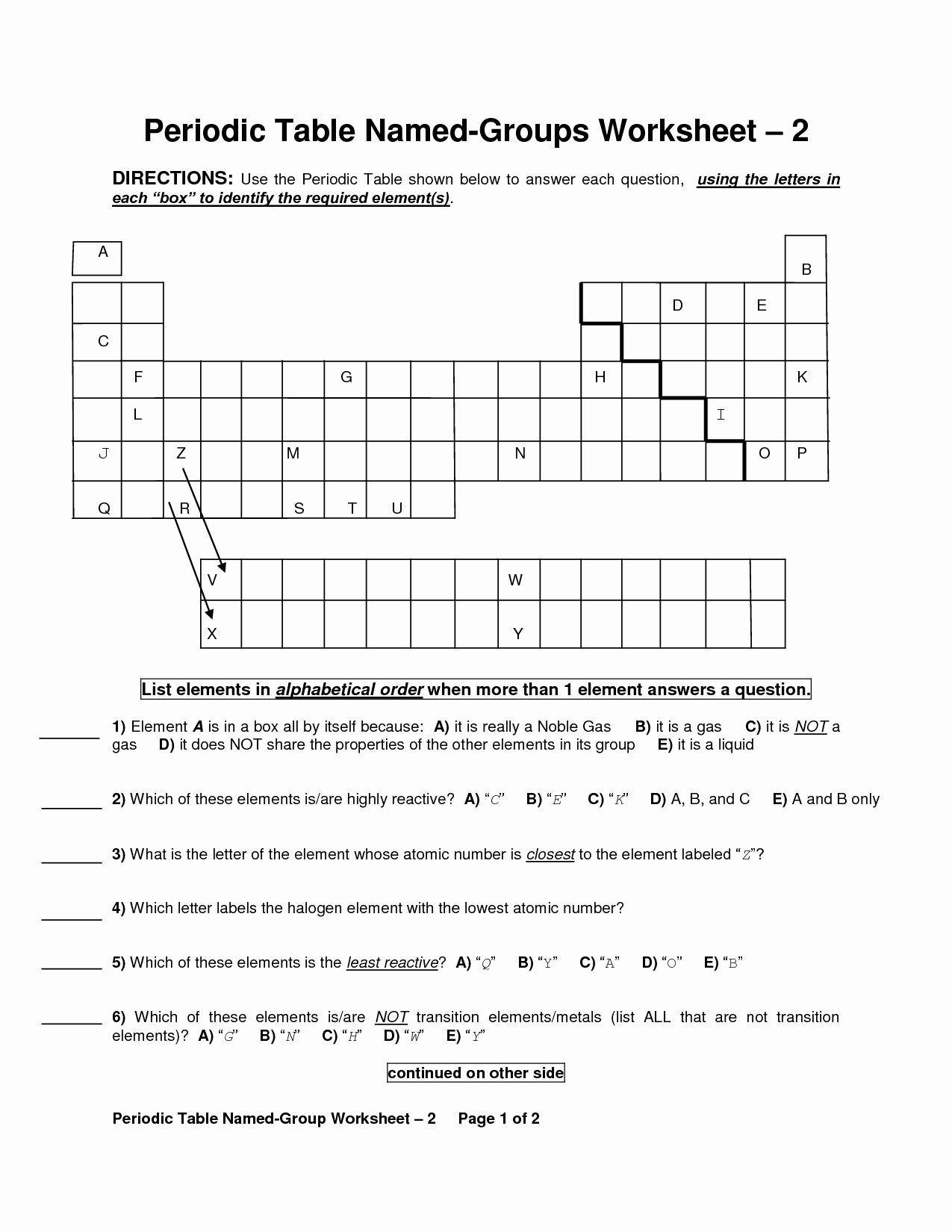 Periodic Table Of Elements Worksheet Lovely 14 Best Of Properties Metals Worksheet