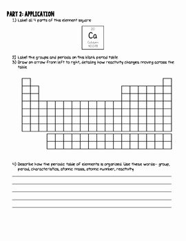 Periodic Table Of Elements Worksheet New Periodic Table Of Elements Vocabulary Worksheet W Answer