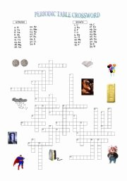 Periodic Table Puzzle Worksheet Inspirational Periodic Table Crossword Esl Worksheet by Lamerche