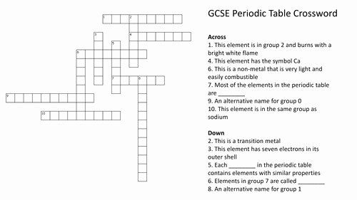Periodic Table Puzzle Worksheet Unique Chapter 6 the Periodic Table Worksheet Answers