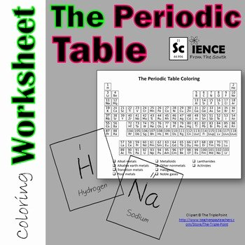 Periodic Table Review Worksheet Lovely Periodic Table Coloring Worksheet for Review or assessment