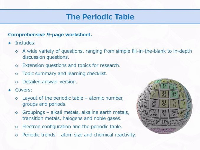 Periodic Table Review Worksheet New the Periodic Table [worksheet] by Goodscienceworksheets