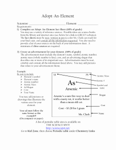 Periodic Table Scavenger Hunt Worksheet Fresh Periodic Table Scavenger Hunt – Answer Key Directions