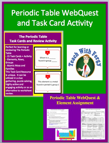 Periodic Table Webquest Worksheet Answers Inspirational Periodic Table Activity Bundle Task Card Activity