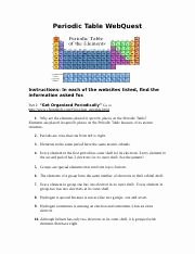 Periodic Table Webquest Worksheet Answers Inspirational Worksheet Percent Position 1c Chemistry the
