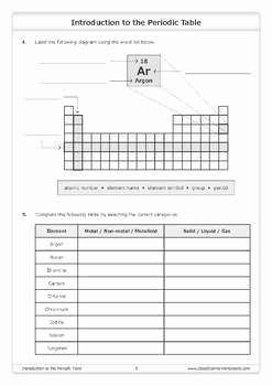 Periodic Table Worksheet High School Best Of Introduction to the Periodic Table [worksheet] by Good