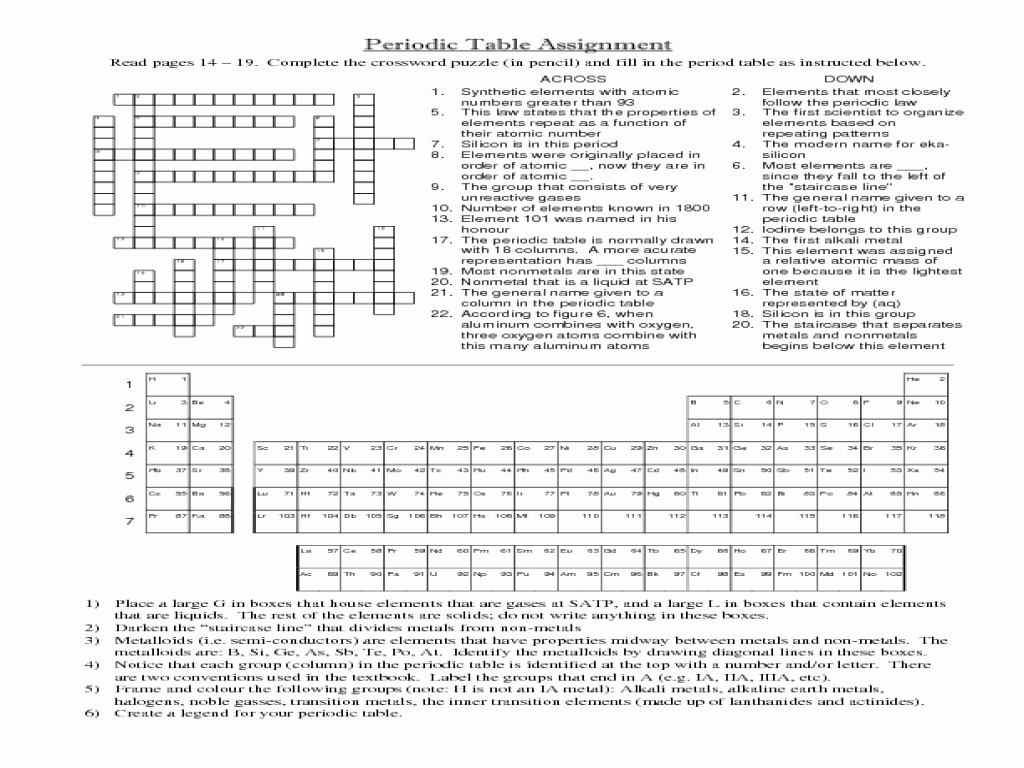 Periodic Table Worksheet High School Best Of Periodic Table Elements Worksheet Middle School the