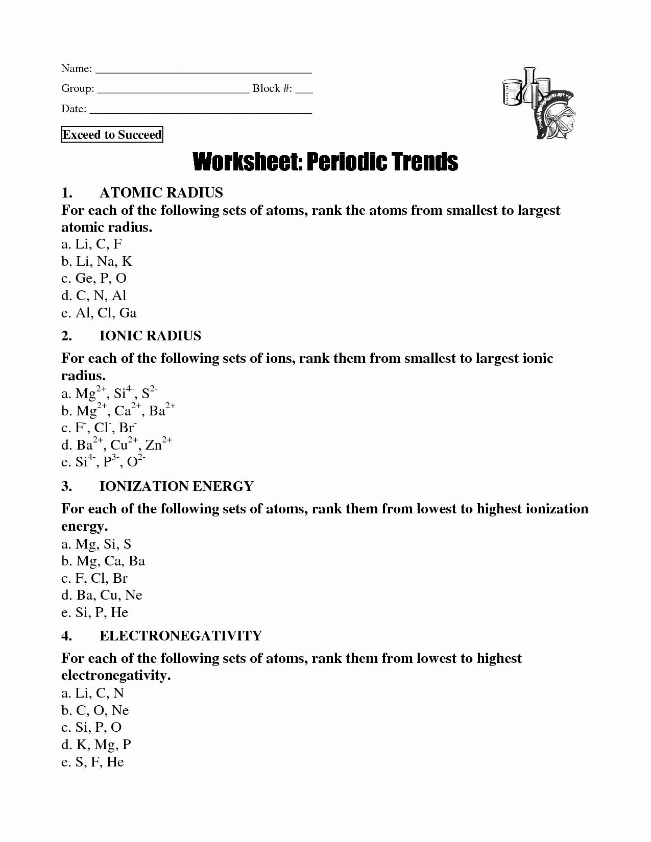 Periodic Trends Worksheet Answer Key Lovely 20 Best Of Periodic Trends Worksheet Answers Key