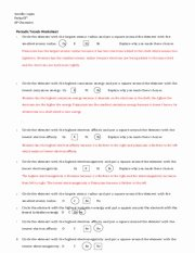 Periodic Trends Worksheet Answers Unique Periodic Trends Worksheet Answers 1 Honors Chemistry