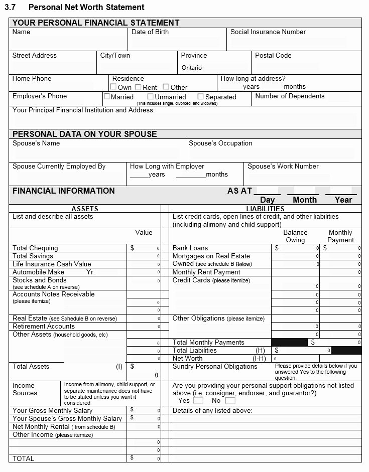 Personal Net Worth Worksheet Best Of 40 Personal Financial Statement Templates & forms