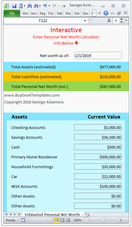 Personal Net Worth Worksheet Best Of Personal Net Worth Calculator Excel Spreadsheet