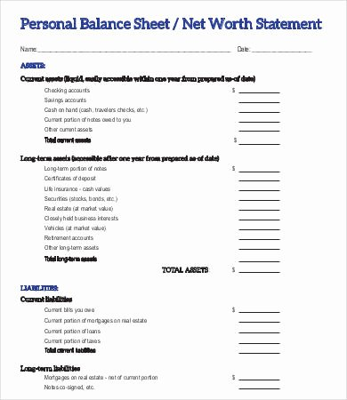 Personal Net Worth Worksheet Best Of Personal Net Worth Worksheet the Best Worksheets Image