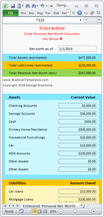 Personal Net Worth Worksheet Elegant Personal Net Worth Calculator Excel Spreadsheet