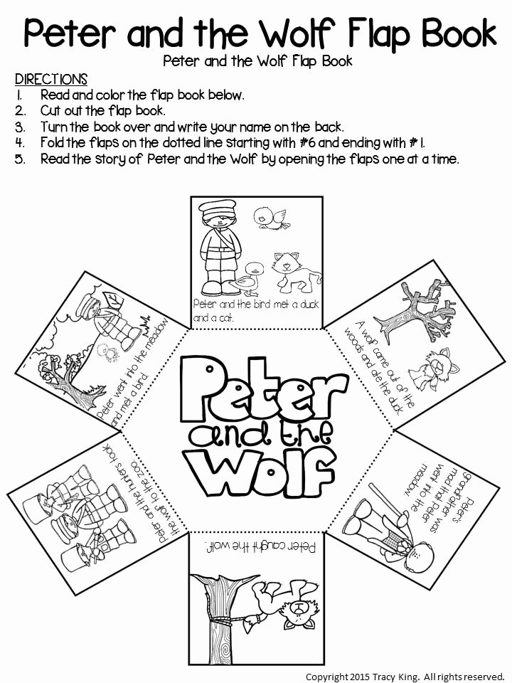 Peter and the Wolf Worksheet Beautiful Peter and the Wolf Flap Book – the Bulletin Board Lady