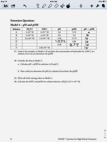 Ph and Poh Worksheet Answers Fresh Ph and Poh Worksheet