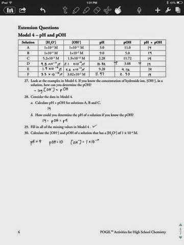 Ph and Poh Worksheet Answers Unique Ph and Poh Worksheet