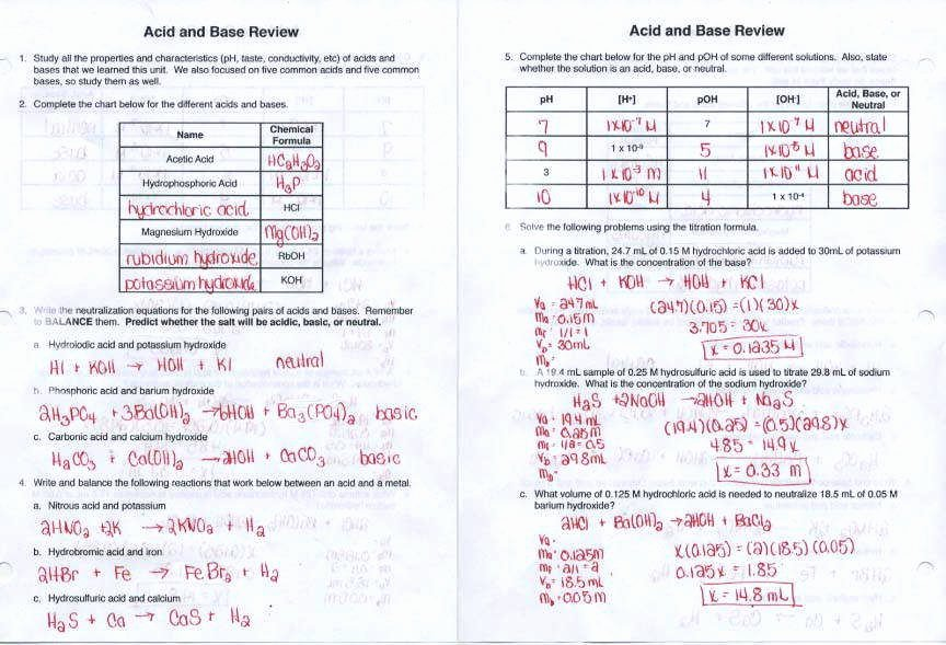 Ph and Poh Worksheet Beautiful Ph and Poh Worksheet