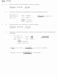 Ph and Poh Worksheet New Ph and Poh Calculations Chemistry Worksheet with Answers