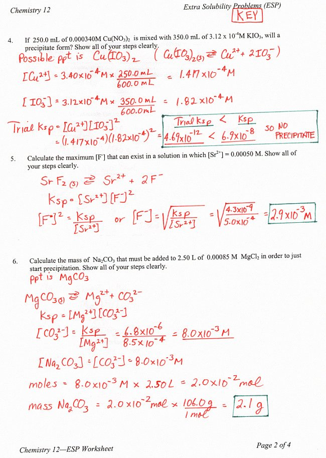 Ph Worksheet Answer Key Lovely solubility Worksheet