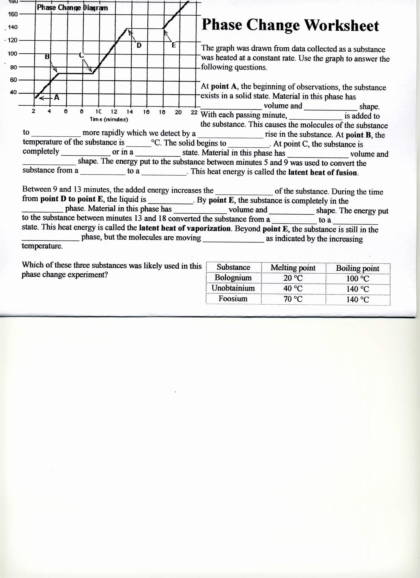Phase Change Worksheet Answers Awesome Worksheet Phase Change Worksheet Answers Grass Fedjp