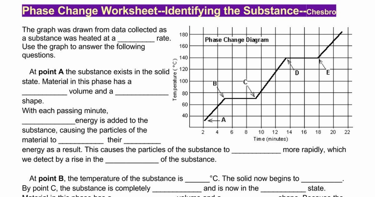 Phase Change Worksheet Answers Best Of Phase Change Worksheet