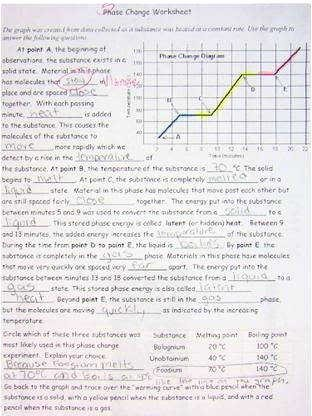 Phase Change Worksheet Answers Fresh Phase Change Worksheet Answers