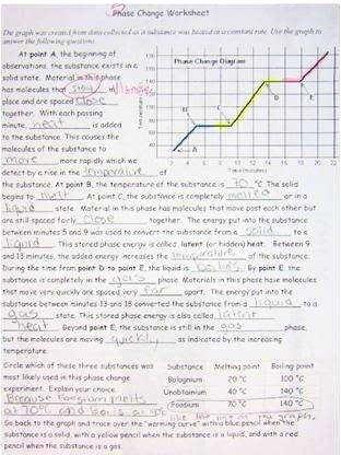 Phase Change Worksheet Answers Fresh Phase Change Worksheet Answers