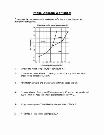 Phase Change Worksheet Answers Luxury Phase Change Worksheet