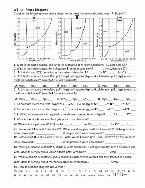 Phase Change Worksheet Answers Luxury Phase Change Worksheet