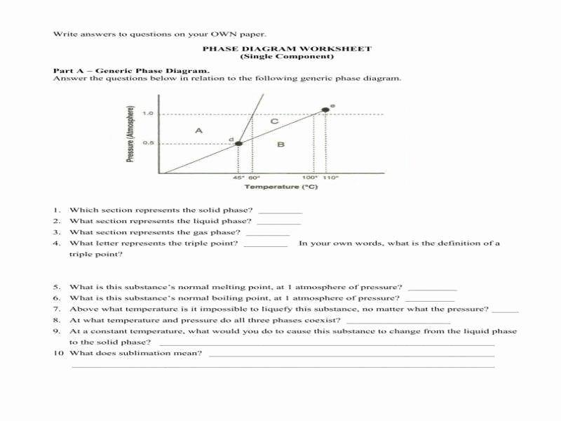 Phase Change Worksheet Answers Luxury Phase Diagram Worksheet Answers