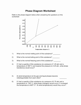 Phase Diagram Worksheet Answers Elegant Phase Diagram Worksheet