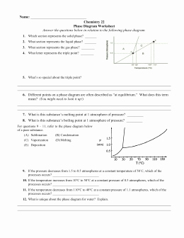 Phase Diagram Worksheet Answers Luxury Certificate Of Pliance