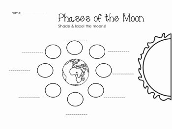 Phases Of the Moon Worksheet Awesome Earth Cycles Science Worksheets & Printables by Glitter