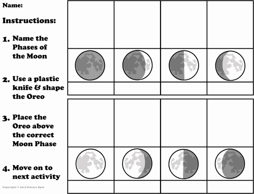 Phases Of the Moon Worksheet Awesome Worksheet Moon Phase Science Spot Worksheet Best Free