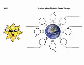 Phases Of the Moon Worksheet Beautiful Moon Phases Practice