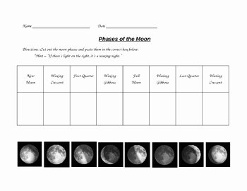 Phases Of the Moon Worksheet Best Of Phases Of the Moon Worksheet by Paula Jett