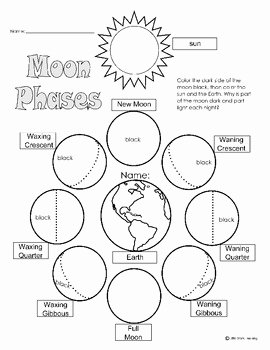 Phases Of the Moon Worksheet Elegant Moon Phases Worksheet & Mini Book by Little Stars Learning