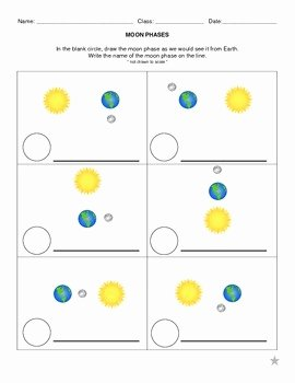 Phases Of the Moon Worksheet Fresh Earth Science Moon Phases Worksheet by Speaking Science