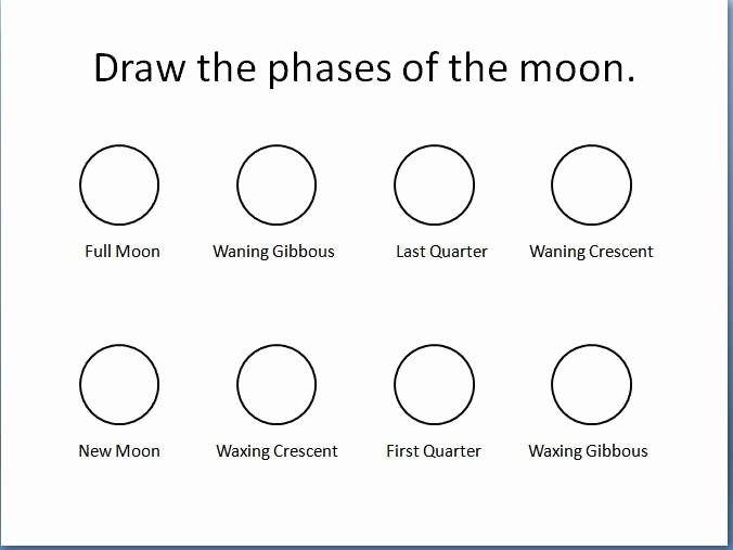 Phases Of the Moon Worksheet Inspirational Draw the Phases Of the Moon Madscientistx3