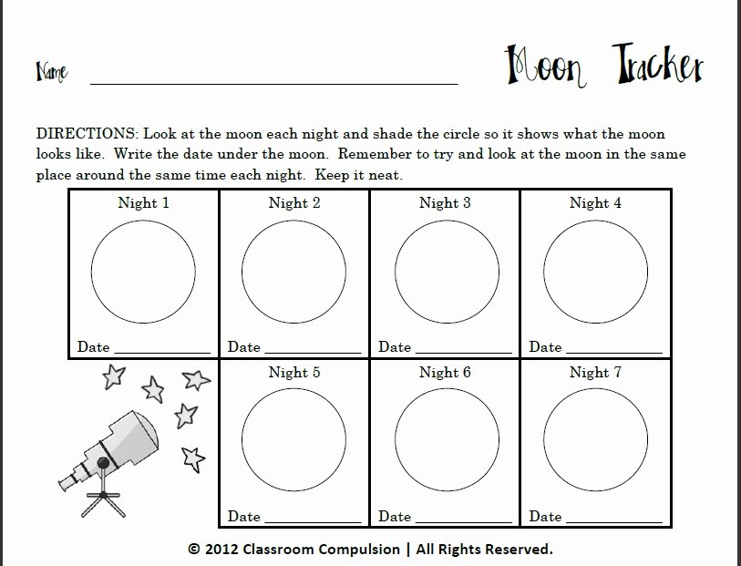 Phases Of the Moon Worksheet Lovely Classroom Pulsion Shine Shine Harvest Moon